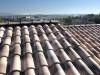 mediterranes Dach in Braun-Grautönen mit alter Oberfläche