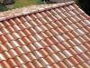 Satteldach im mediterranen Stil mit schönem hellen Ziegel mit Changierungen