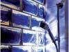 Duschwand aus Glasbausteinen