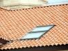 romanischer Dachziegel mit großem Wulst sorgt für eine Mönch Nonne Optik