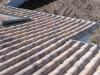 schöner milder südländischer Dachziegel in Sandfarben