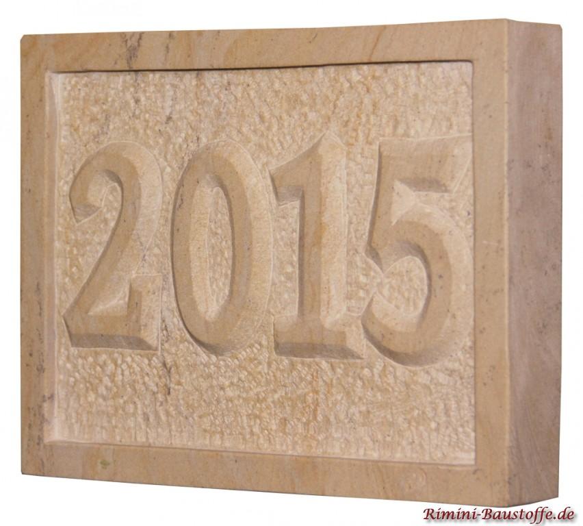 Jahreszahl 2015 mit Rand