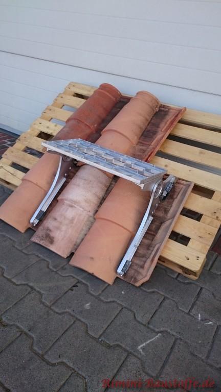 Die Dachtritte können auch bei sehr wulstigen Ziegeln verwendet werden