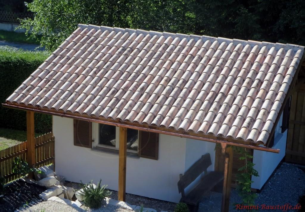 tolle Sicht auf das Gartenhaus aus der Vogelperspektive