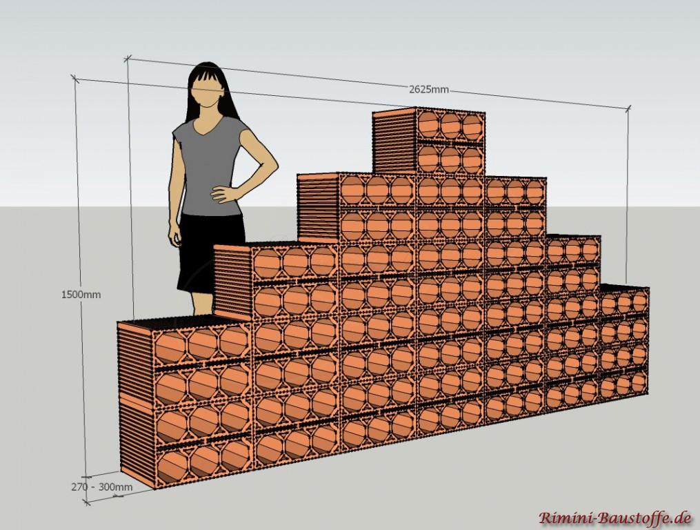 Skizze Weinlagerstein Massiv Pyramide