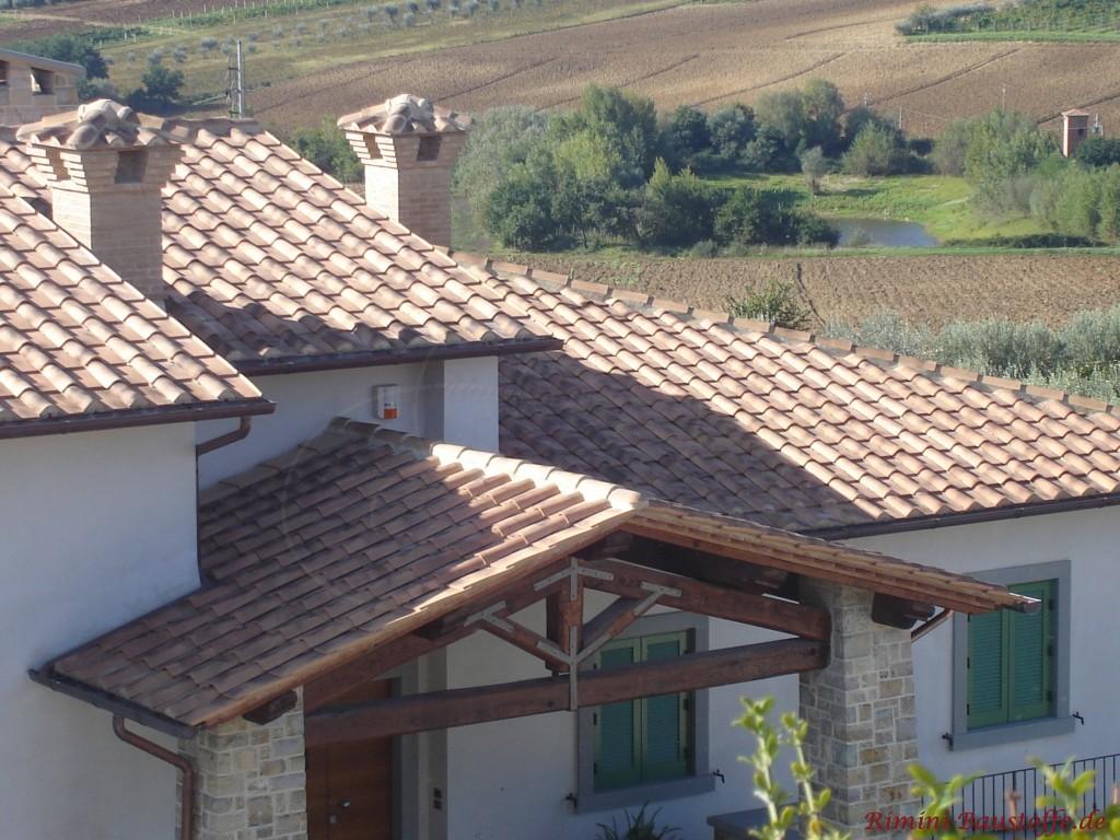 Moench Nonne Halbschale auf einem Dach mit Platte verlegt
