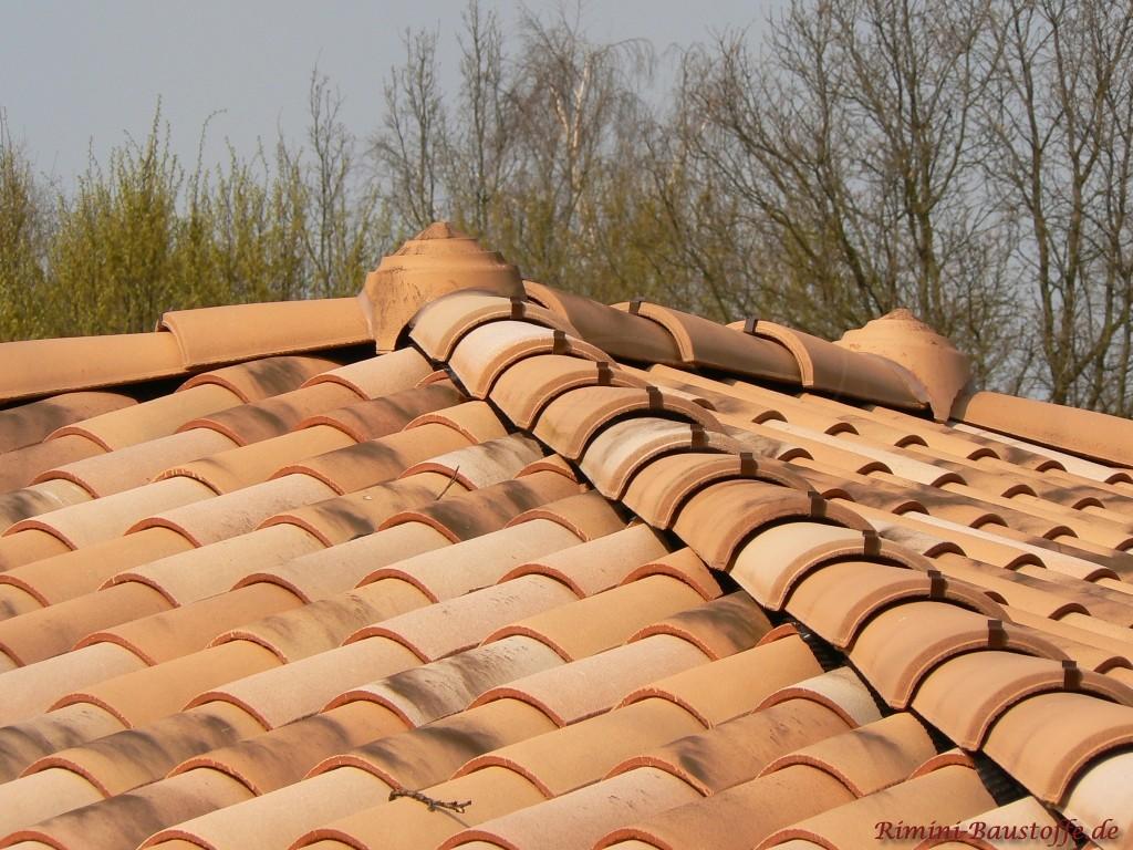 Nahaufnahme der Walmkappe Omega auf dem Dach