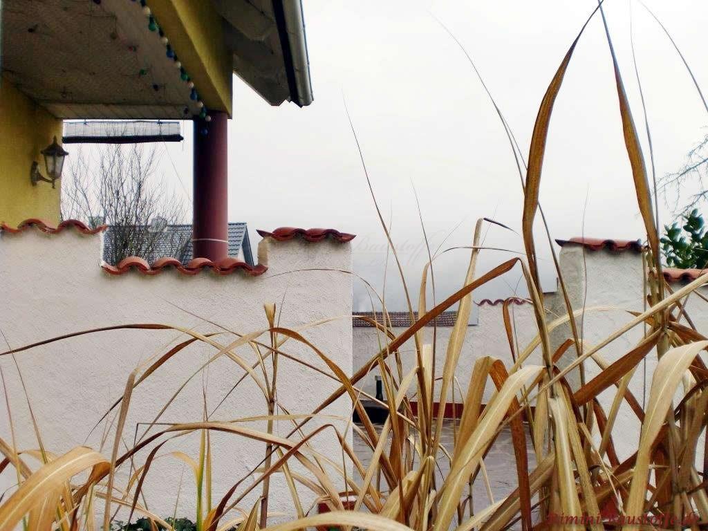 Abdeckung fuer schmale Gartenmauern
