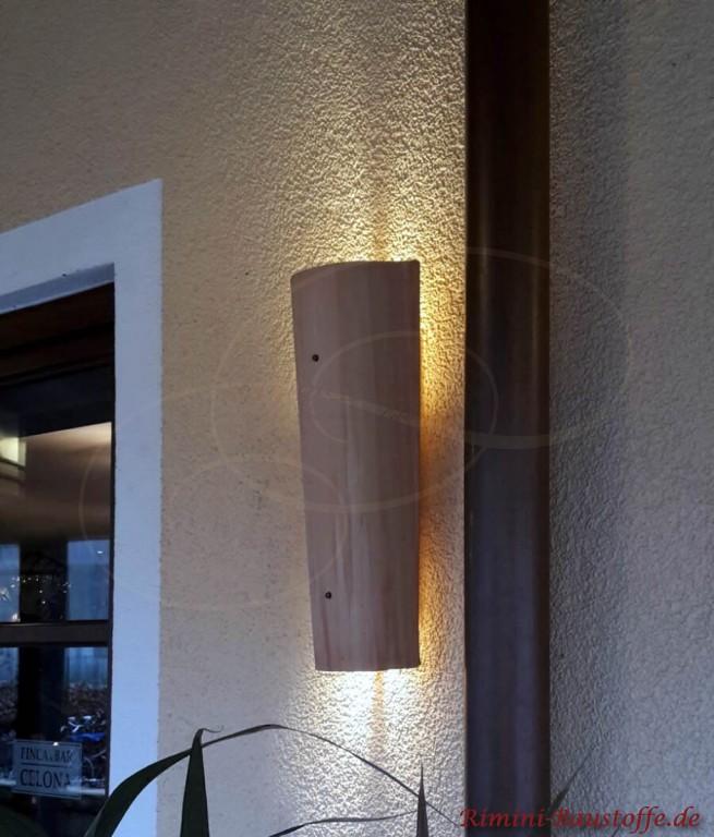 Tonziegel als Lampe verwendet