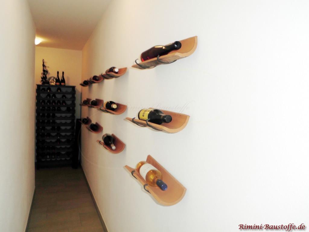tolle Loesung zur Weinlagerung mit Tonhalbschalen