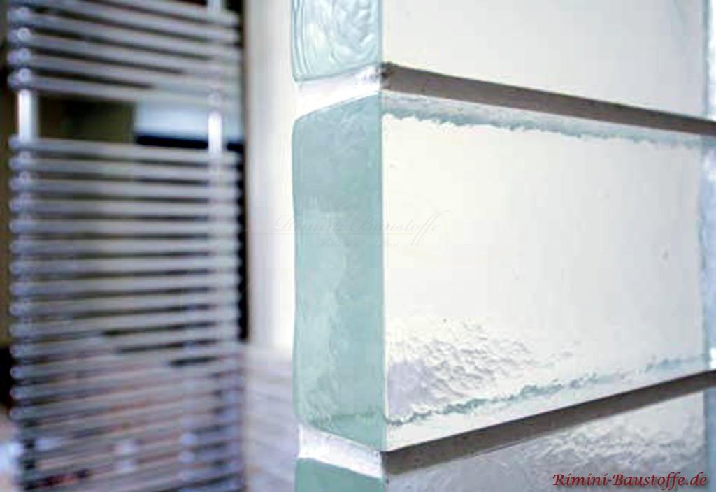 Nahaufnahme der Glasbausteine Neutral