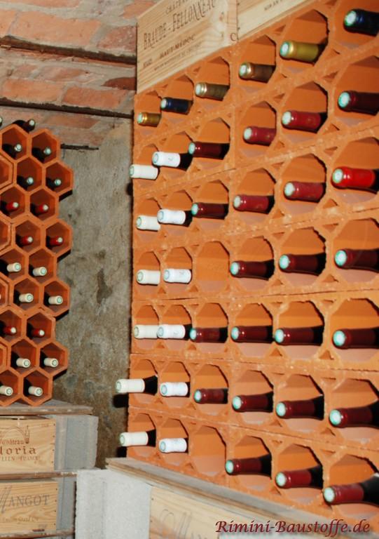dieser Weinlagerstein schafft Ordnung im Weinkeller