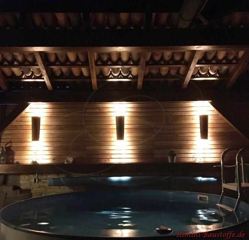 Wandlampen passend zur Dacheindeckung