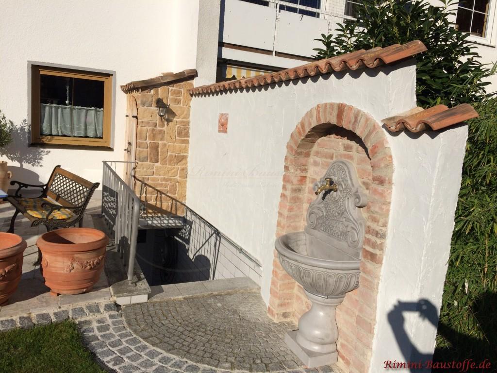 Verwendete Materialien: Riemchen Leon brun u. Halbschale Coppo di Domenica