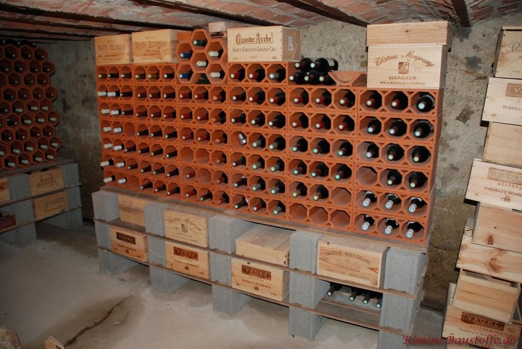 Weinlagerstein rechteckig super zu stapeln