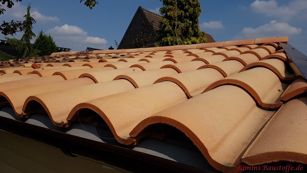 schoener geschwungener Dachziegel aus Frankreich