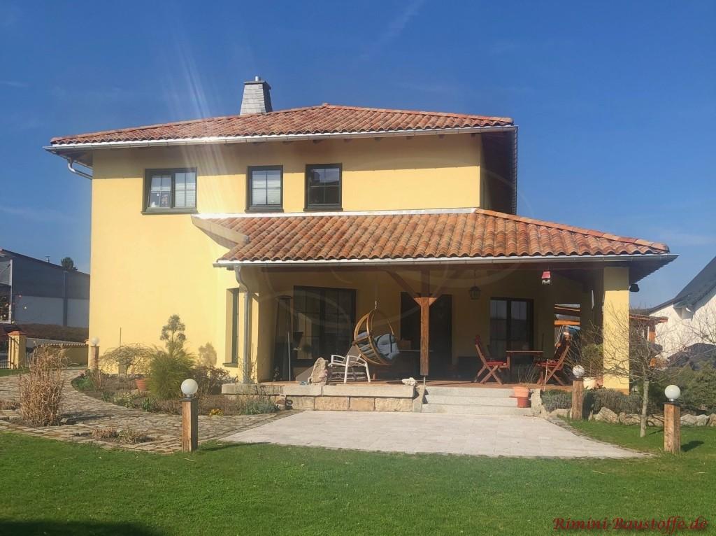 Einfamilienhaus mediterran doppelgeschossig