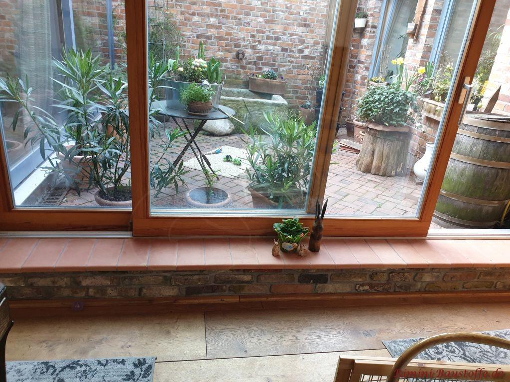 Tonfensterbaenke im Wohnbereich