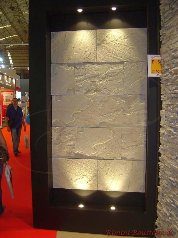 Wandverkleidung in heller Granitoptik, sehr modern