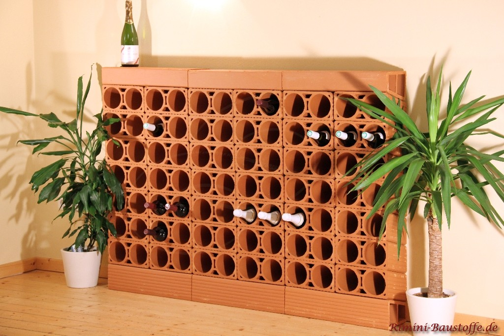 Weinlagerregal aus Ton individuell zusammenstellbar