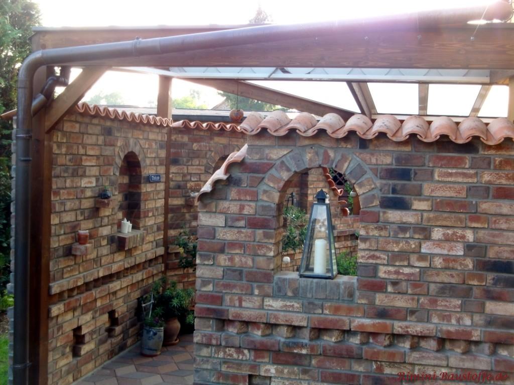historische Backsteine mit Pater Nonne Pfannen