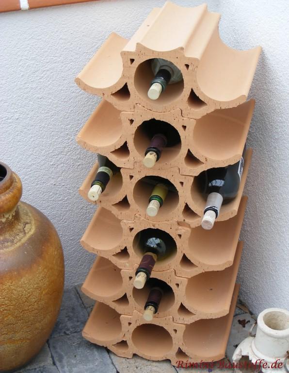 Französisches Weinregal aus Ton