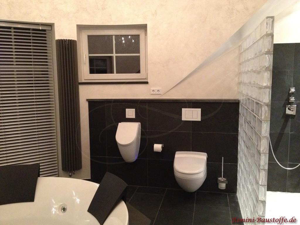 modernes Badezimmer in schönem antrazith