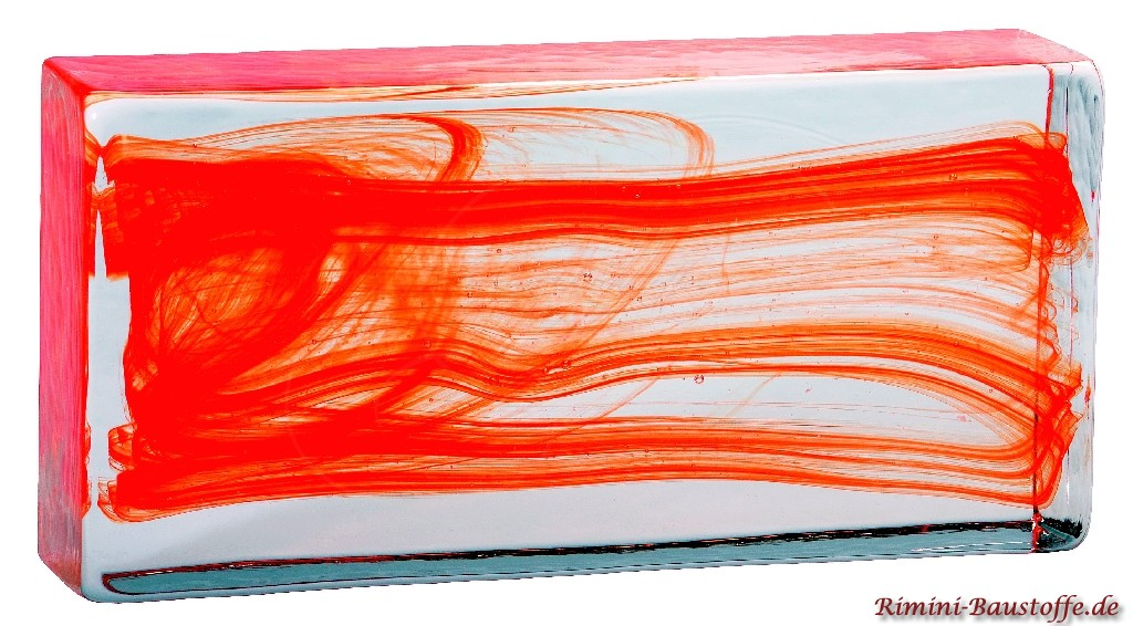 Vollglaselemente aus Muranoglas in Rot