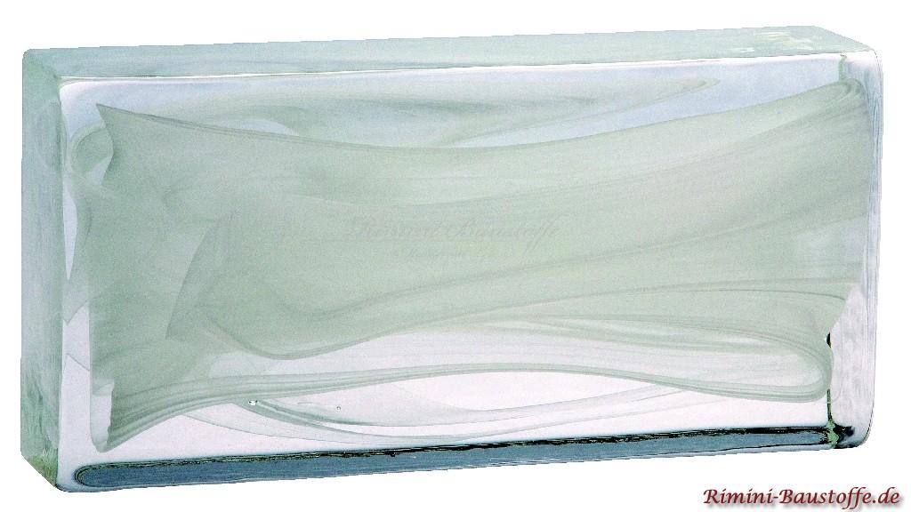 Vollglaselemente aus Muranoglas in weiss