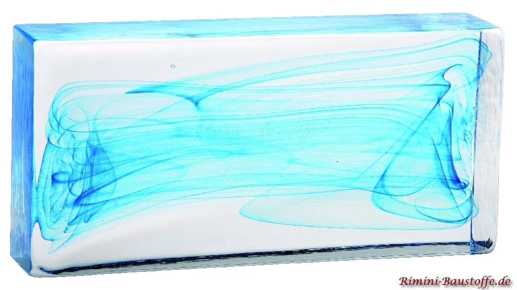 Vollglaselemente aus Muranoglas in blau