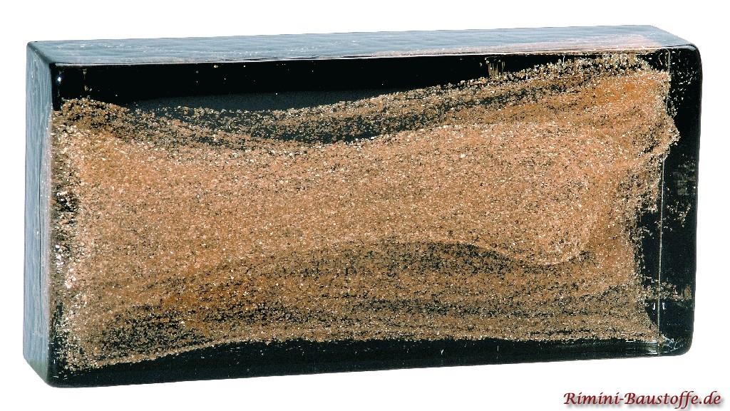 Vollglaselemente aus Muranoglas in gold