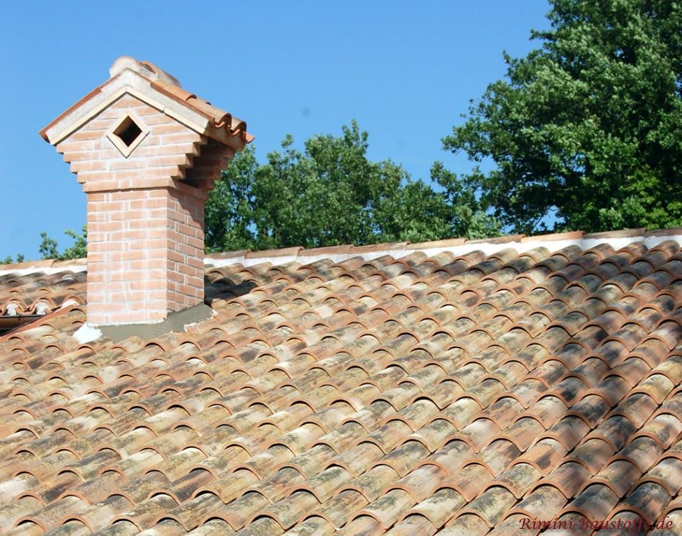 schöne antike Mönch Nonne Dacheindeckungen + Schornsteinabdeckung