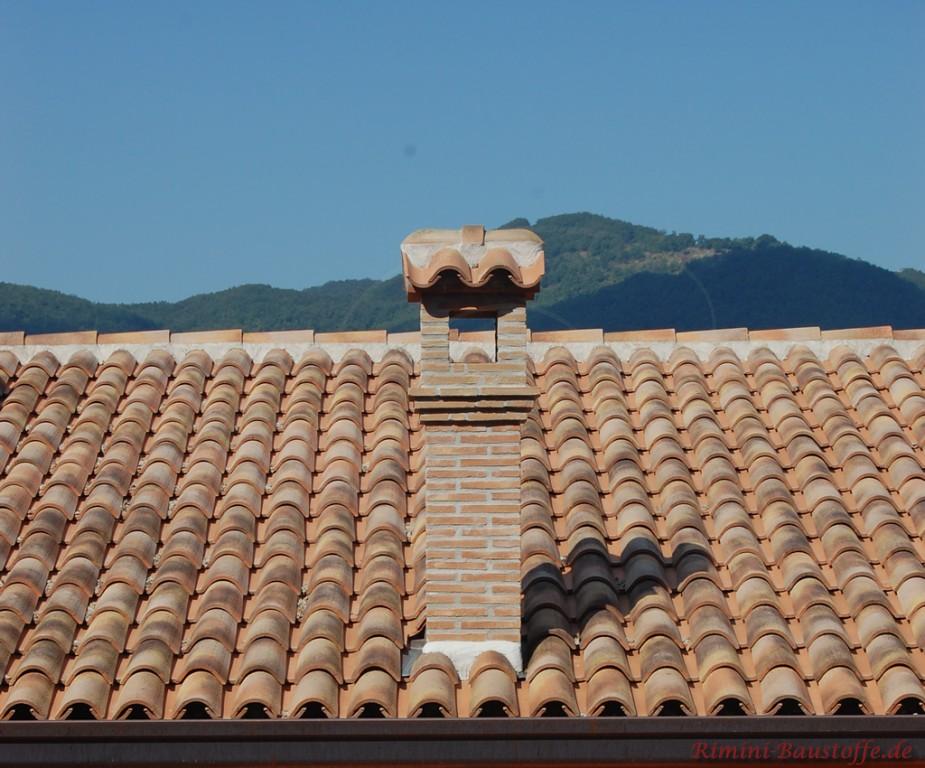 mediterrane Mönch Nonne Dacheindeckung