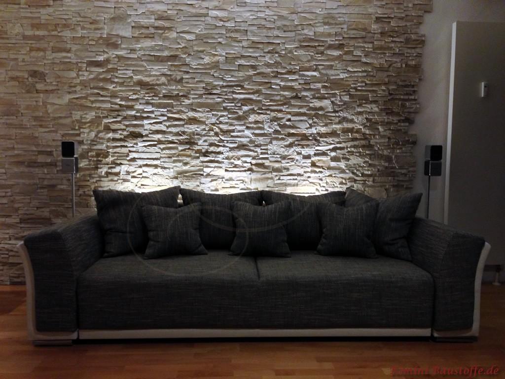 wandgestaltung wohnzimmer mit tapete beispiele moderne. Black Bedroom Furniture Sets. Home Design Ideas