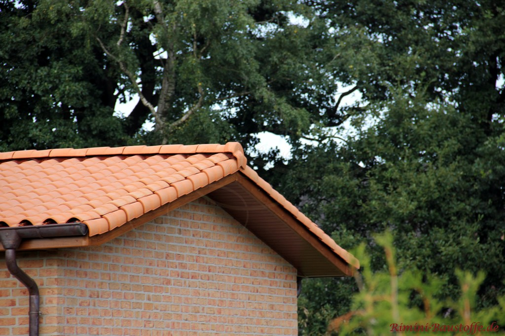 Klinkerfassade und sehr schöner farblich passender Dachziegel