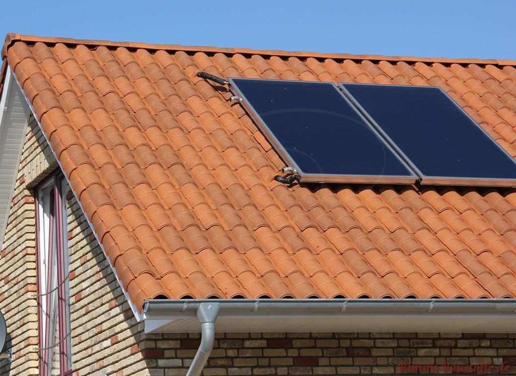 hier schön zu sehen die Verlegung der Solaranlage auf dem Dach