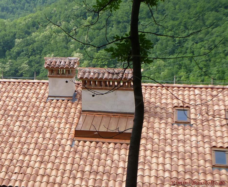 sehr schöner milder Dachziegel mit leichten Changierungen