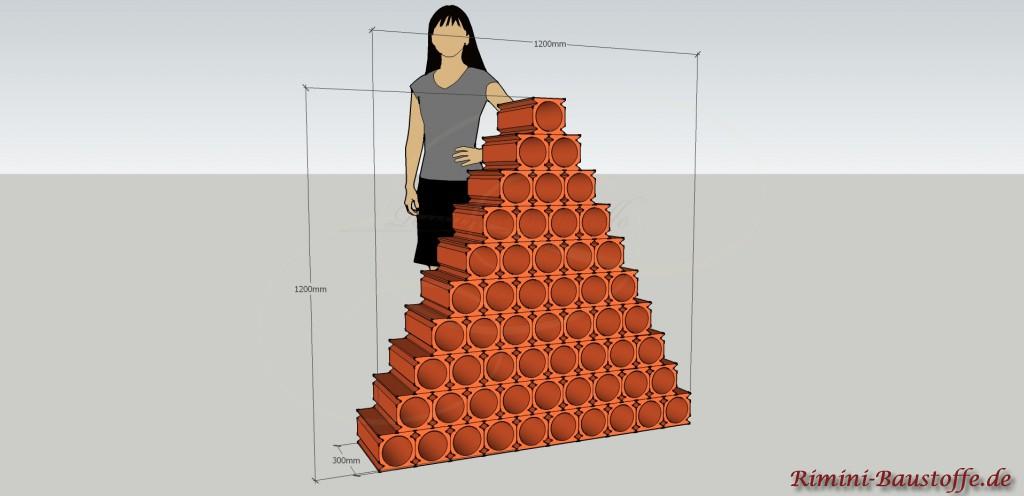 Skizze Bouteilles un Pyramide