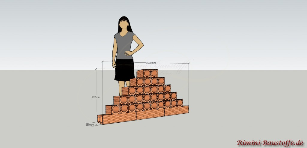 Skizze Weinlagerstein Due Pyramide