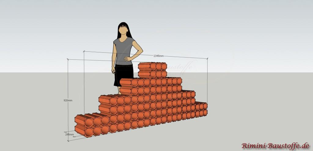 Skizze Weinlagerstein Trois Pyramide