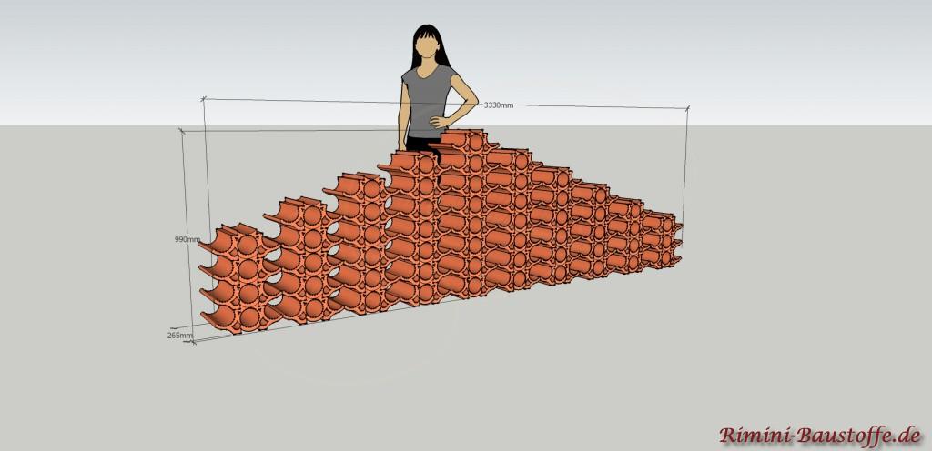 Skizze Weinlagerstein Casier Pyramide