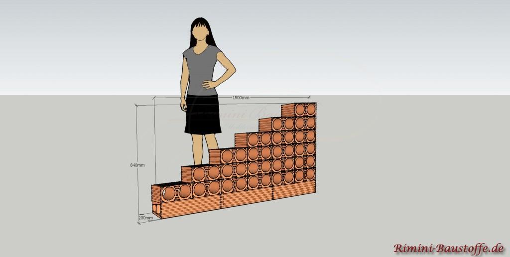 Skizze Weinlagerstein Due Treppe