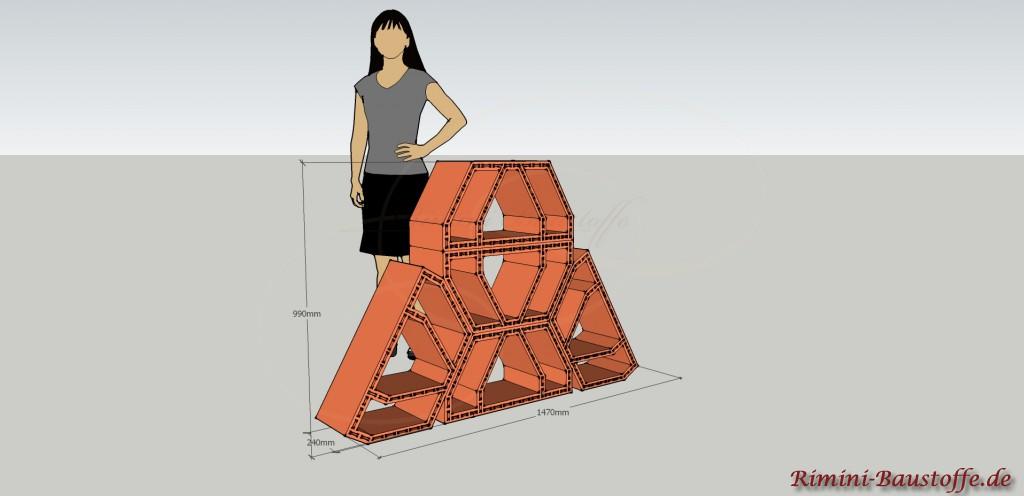 Skizze Weinlagerstein Future Kleine Pyramide