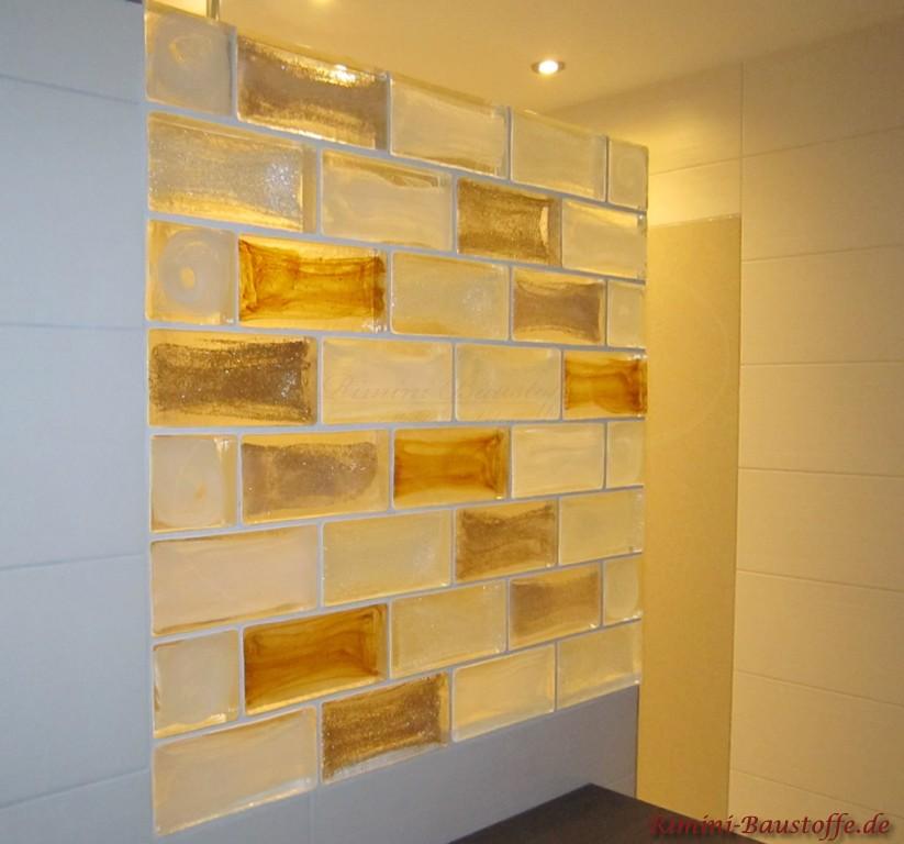 Duschabtrennung aus Muranoglaselementen