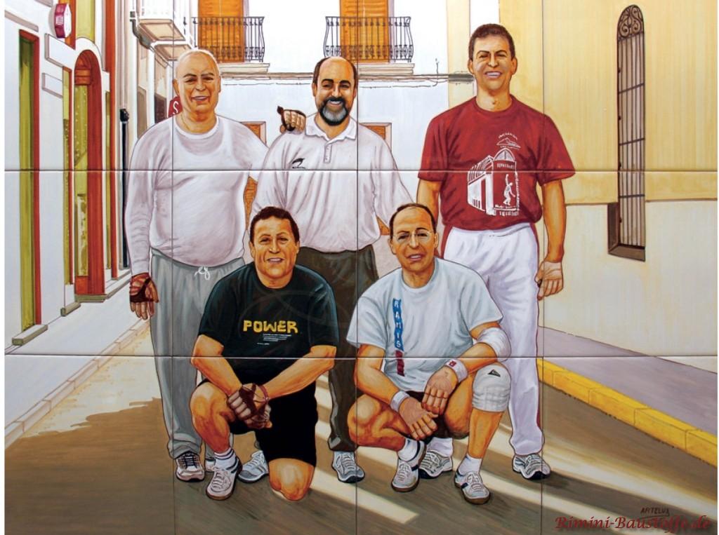 tolles Fliesenbild von 5 Freunden