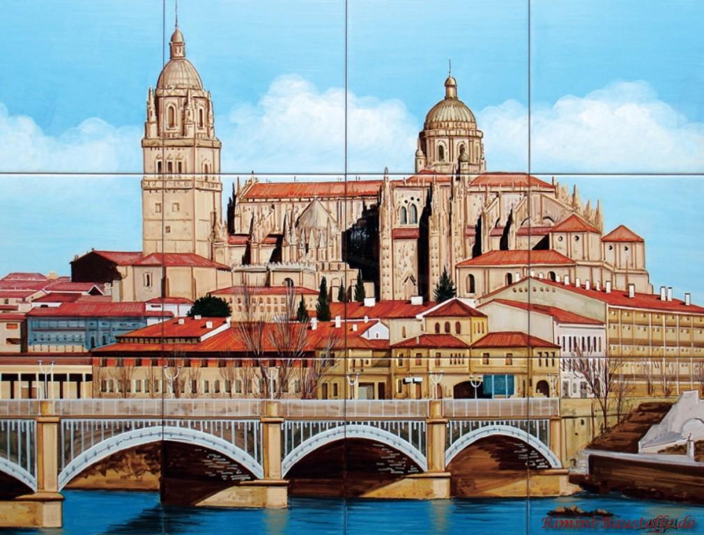 tolles Architekturportrait auf Fliesen gemalt