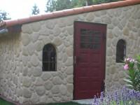 Haus Mit Verblendsteinen Aus Leichtbetonriemchen Flusssteinoptik