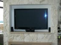 Wandgestaltung wohnzimmer fernsehwand - Fernsehwand stein ...