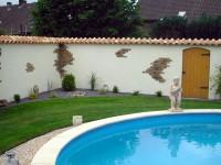 gartenmauer mediterran verputzt – reimplica, Garten ideen gestaltung