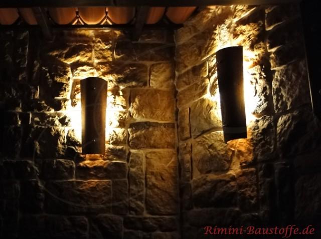 Wandlampen aus Halbschalen